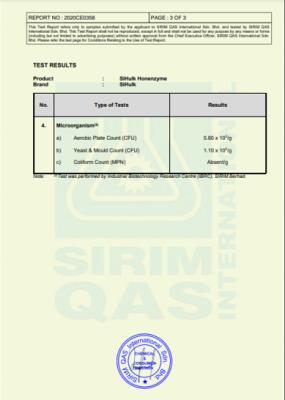 SIRIM Test Microbe